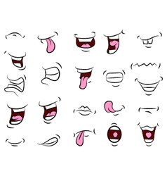 Set of mouths cartoon for your design vector image