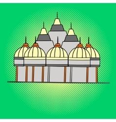 Shri swaminarayan mandir pop art vector