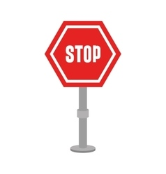 stop advert signpost icon vector image