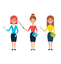 Three Women Teacher Characters vector image