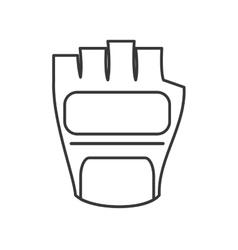 weight lifting gloves icon vector image