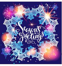 winter snow greetings vector image