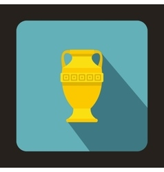 Ancient vase icon flat style vector