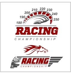 Racing Championship logo vector image
