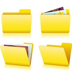 Folder set vector image