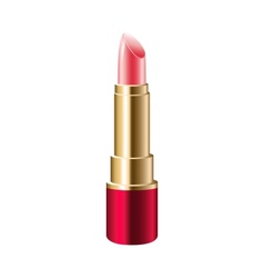 Realistic pink lipstick vector