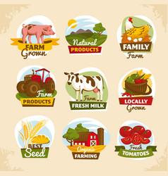 vintage farm labels vector image