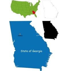 Georgia map vector