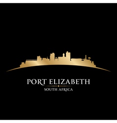 Port elizabeth south africa city skyline silhouett vector