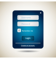 Login form ui grunge blue element vector
