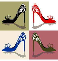 Set of shoes silhouettes vector