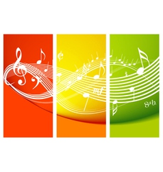 fresh music theme vector image
