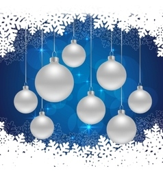 snowflakes blue background vector image