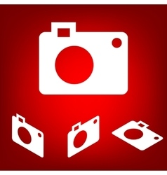Digital camera icon set isometric effect vector