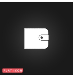 Wallet flat icon vector