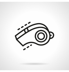 Sport whistle simple line icon vector