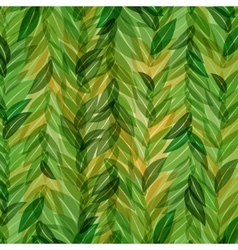 abstract green leaves background vector image