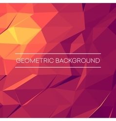 Abstract mosaic background Pink purple orange vector image