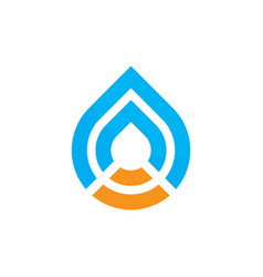 Abstract waterdrop logo image vector