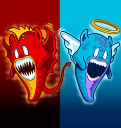 angel and demon plain vector image