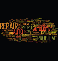 Auto repair text background word cloud concept vector