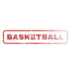 Basketball rubber stamp vector