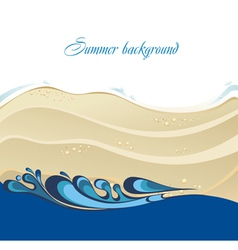 Beautiful beach and tropical sea vector image vector image