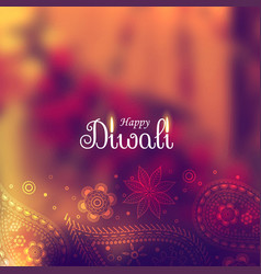 beautiful diwali background with paisley design vector image