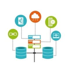 Big data management icons vector