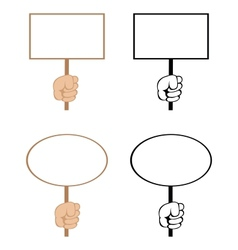 blank signs vector image