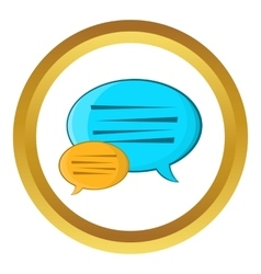 Bubble speech icon vector image vector image