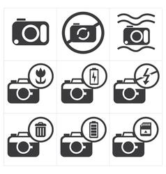 Camera icon set vector image vector image