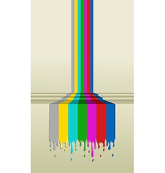 Colorful TV screen signal paint vector image