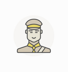 Customs inspector or officer icon vector