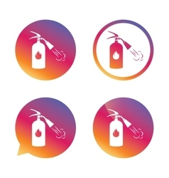 Fire extinguisher sign icon Fire safety symbol vector image vector image