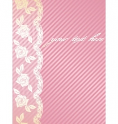 French lace background vector image