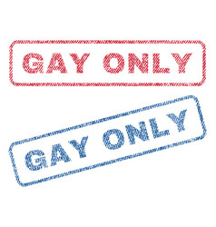 gay only textile stamps vector image vector image