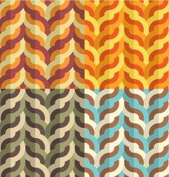 Geometric weaving pattern vector