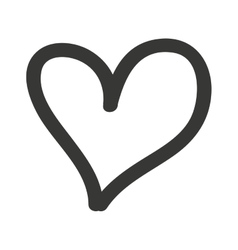 heart drawn isolated icon design vector image