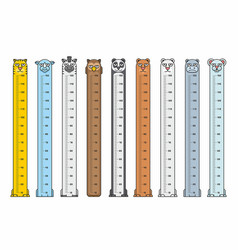 Height charts vector