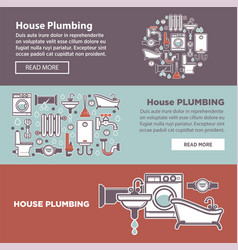 house plambing internet page vector image