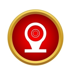 Location pin icon in simple style vector