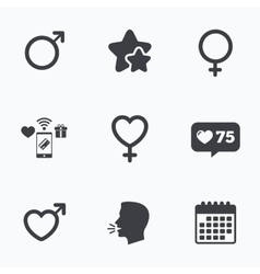 Male and female sex icons Man Woman signs vector image vector image