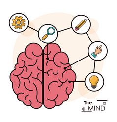 Mind human brain memory smart creative idea vector