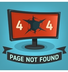 Oops error 404 web banner page not found broken vector