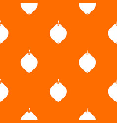 Quince fruit pattern seamless vector