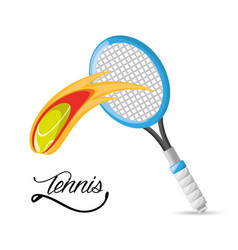Racket and ball to tennis game competition vector