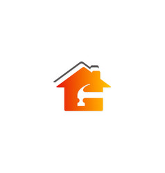 Roof house maintenance logo vector