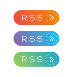 rss feed icon sign vector image vector image