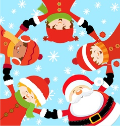 Santa christmas party vector